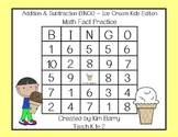 Addition and Subtraction BINGO - Ice Cream Kids Edition