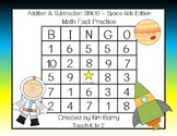 Addition and Subtraction BINGO - Space Kids Edition