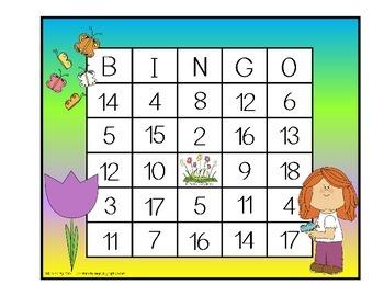 Addition and Subtraction BINGO - Spring Edition