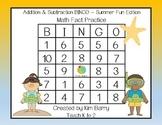 Addition and Subtraction BINGO - Summer Fun Edition