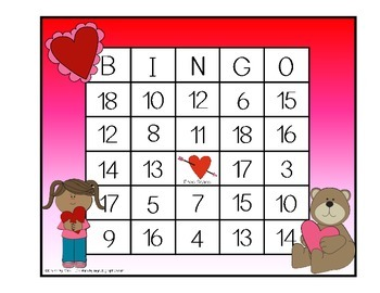 Addition and Subtraction BINGO - Valentine Edition