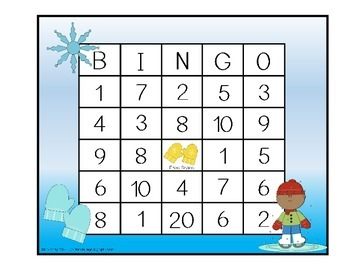 Addition and Subtraction BINGO - Winter Edition