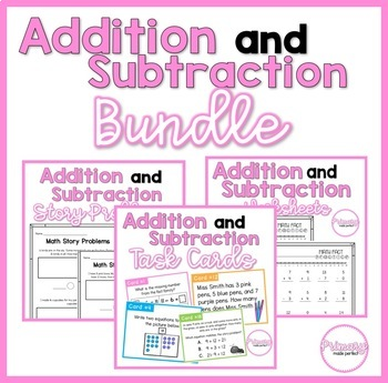 Addition and Subtraction Centers and Activities BUNDLE | 1st Grade Math