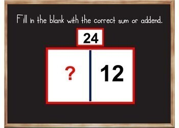 Addition and Subtraction Bar Models - BOOM Cards! (24 Cards)