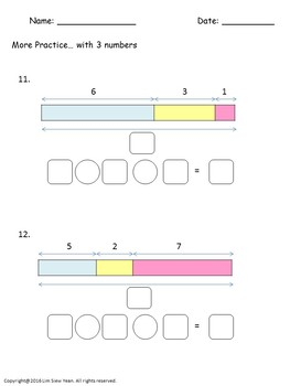 Addition and Subtraction Bar Models/Tape Diagrams - Singapore Math