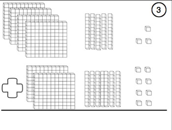 Addition and Subtraction Base Ten Block Task Cards for Upper Grades