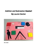 Addition and Subtraction Baseball File Folder Game