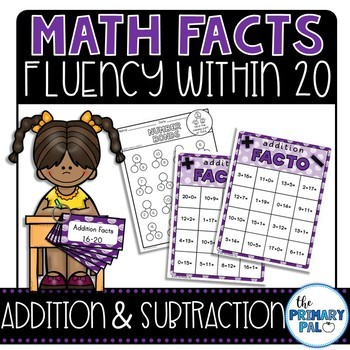 Addition and Subtraction Math Facts Practice: 16-20 edition