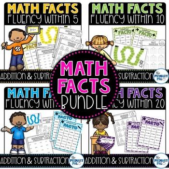 Math Fact Fluency: Addition and Subtraction Mega Bundle