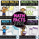 Addition and Subtraction Basic Facts Practice: Growing Bundle