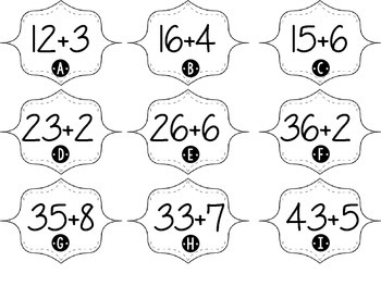 Addition and Subtraction Beyond 20 with Base Ten Math Center