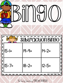 Addition and Subtraction Bingo