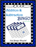Addition and Subtraction Bingo! (36 Sheets!) 100 Calling Cards!