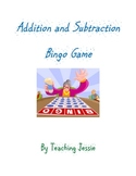 Addition and Subtraction Bingo Game with 24 cards