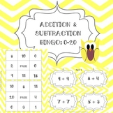 Addition and Subtraction Bingo: Numbers 0-20