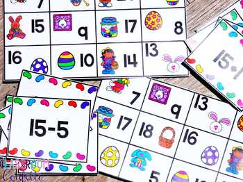 Addition and Subtraction Bingo {Within 20} (Easter Theme)