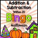 Addition and Subtraction Bingo {Within 20} (Halloween Theme)