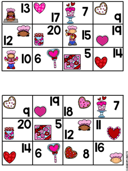 Addition and Subtraction Bingo {Within 20} (Valentine's Day Theme)