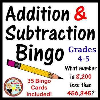 Addition and Subtraction Bingo - Classroom Activity w/ 35 Bingo Cards!