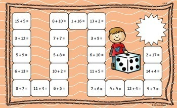 Differentiated Addition and Subtraction Board Games in Spanish and English
