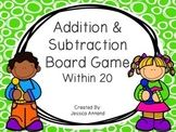 Addition and Subtraction Board Game within 20