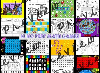 End of Year Math Games (First Grade End of Year Math Activites)