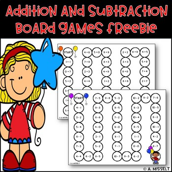 Addition and Subtraction Board Games FREEBIE!