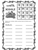 Addition and Subtraction Boggle