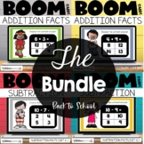 Addition and Subtraction Boom Cards Back to School Bundle