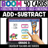 Addition and Subtraction Boom Cards Grade 3 | Distance Learning