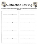Addition and Subtraction Bowling