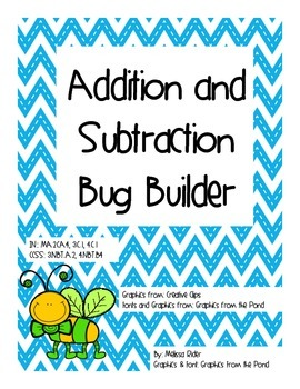 Addition and Subtraction Bug Builder