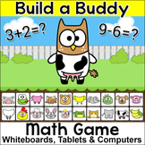 Addition and Subtraction Math Facts Review Game for SMARTb