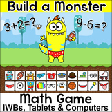 Addition and Subtraction Smartboard Math Game for Math Cen