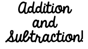 Addition and Subtraction Bulletin Board Starter Set