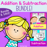 Addition and Subtraction Worksheets Bundle (Kindergarten Math)