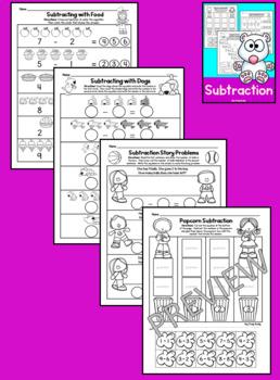Addition and Subtraction Worksheets Bundle (Kindergarten Math)