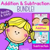 Addition & Subtraction Worksheets Bundle (Kindergarten Math)