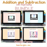Addition and Subtraction Bundle Google Classroom Distance