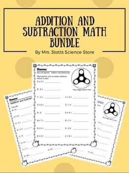 Addition and Subtraction Bundle-Including Race the Spinner Activities