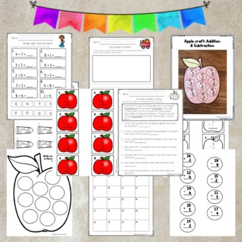Addition and Subtraction bundle pack- Single Digit