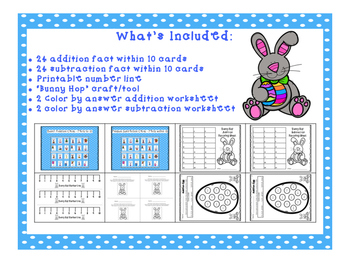 Addition and Subtraction Bunny Hop within 10