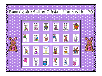 Addition and Subtraction Bunny Hop within 20