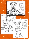 Addition and Subtraction: Bunny Math Worksheets