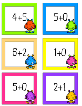 Addition and Subtraction CLIP! Easy and fun math center for Kinder-Color and BW!