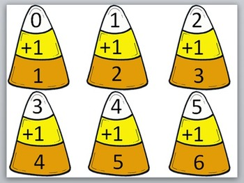 Addition and Subtraction Facts Candy Corn Puzzles +0,-0, +1, -1,+2,-2,+3,-3