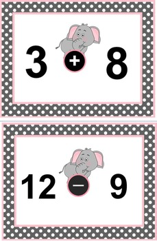 Addition and Subtraction Card Game Forgetful Fred