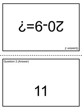 Addition and Subtraction Cards