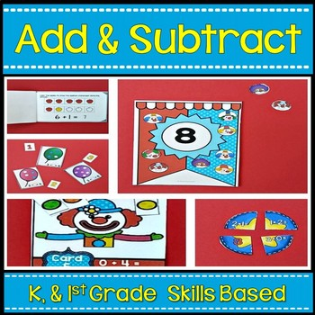 Addition and Subtraction  ~ Center Activities and Worksheets