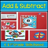 Addition and Subtraction  ~ Center Activities and Worksheets K-1